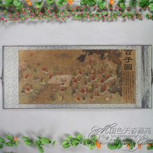 China Antique collection Boutique Calligraphy and painting Hundred subgraph diagram
