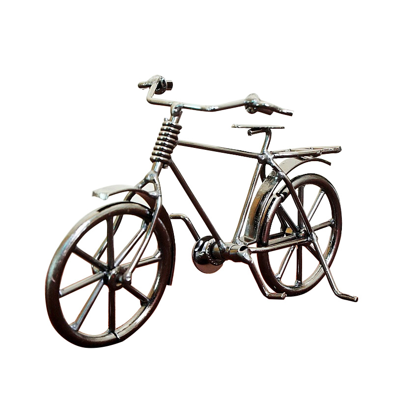 Vintage Iron bicycle Models Ornaments Crafts Mental Bike Car Figurines Miniatures For Office Desktop Home Decoration Bike Gifts