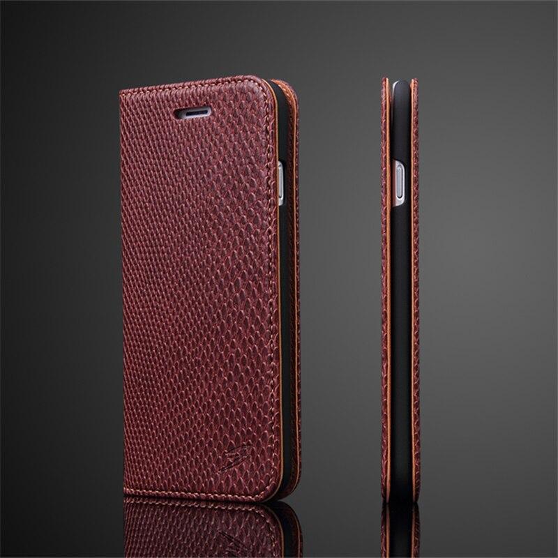 Роскошные змеиной кожи, чехол для iPhone 7 кожаный бумажник Стенд флип чехол для телефона Coque сумка с карт памяти мода ультра тонкий