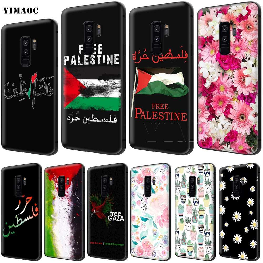 YIMAOC Palestine Flag Soft Silicone Case for Samsung Galaxy S6 S7 Edge S8 S9 Plus A3 A5 A6 Note 8 9