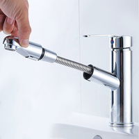 Kitchen Faucet Pull Down Luxury Brass Mixer Sink Faucet Single Handler Tap Cold and Hot Water Mixer Crane