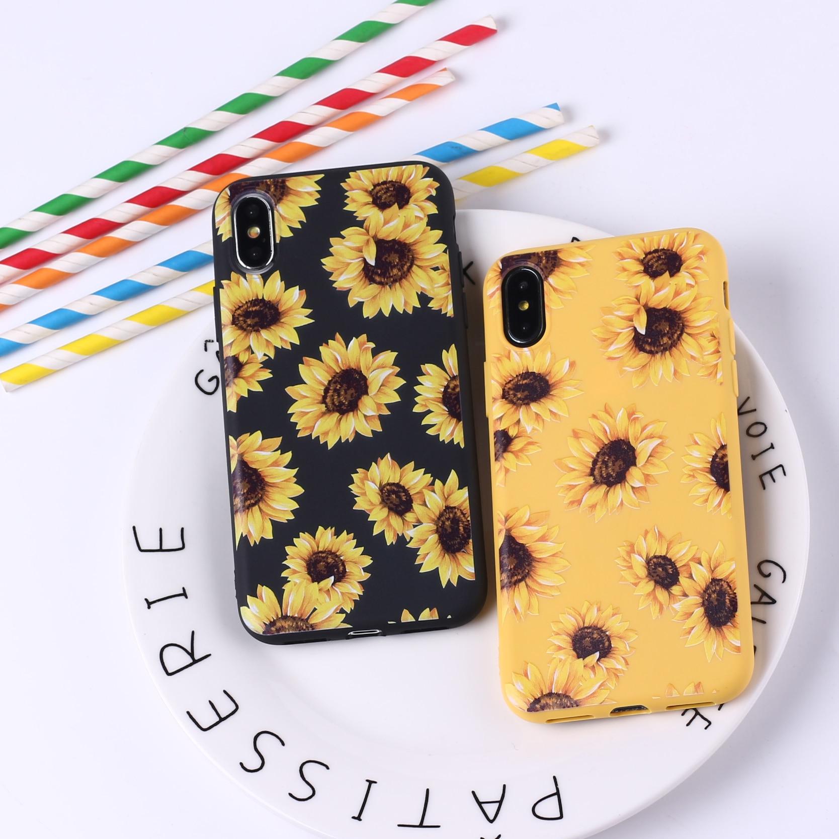 coque iphone 6 sunflower