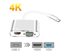 4 K x 2 K USB C адаптер HDMI VGA type C к HDMI Thunderbolt 3 видео конвертер для samsung Galaxy S9/S8/Note 9 huawei mate 10/P20 Pro