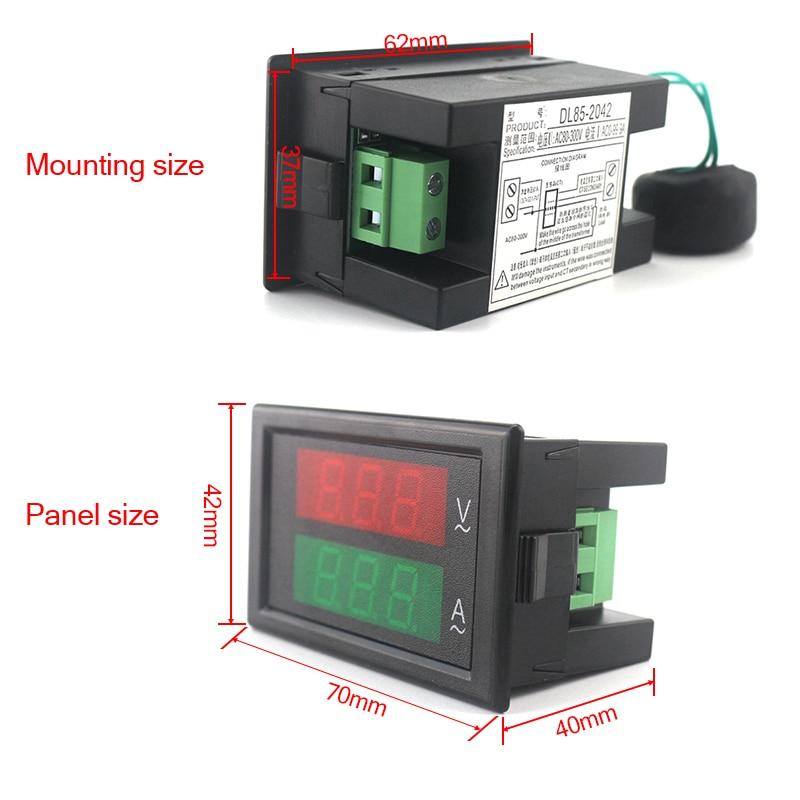 Voltmetro AC digitale Amperometro Ampermetro AC 80-300V 0-100A Led - Strumenti di misura - Fotografia 4