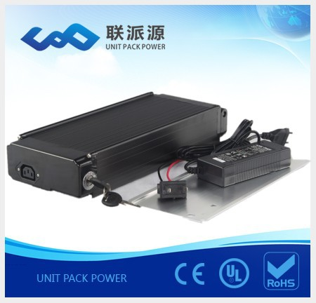 lithium ion 48v 10ah rear rack battery for electric bikes. Black Bedroom Furniture Sets. Home Design Ideas