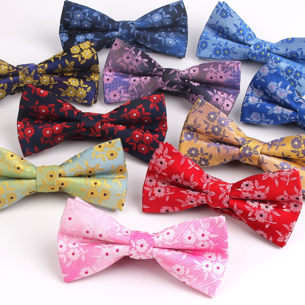 Fashion Men Bow Tie Classic Bowtie For Men Business Wedding Adult Floral Bow Ties Butterfly Suits Cravats Jacquard Woven Bowties