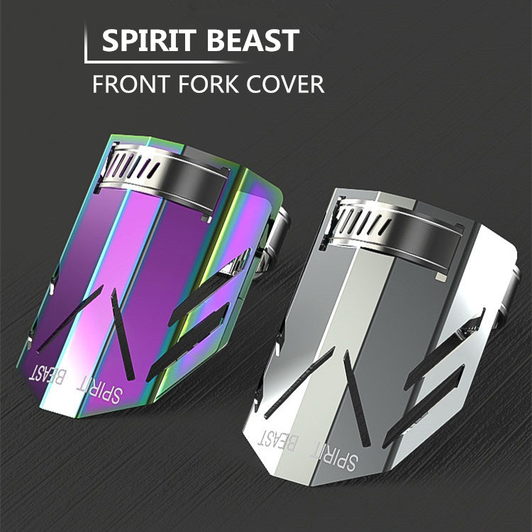 Spirit Beast Motorcycle Front Shock Absorbers Fork Tube Covers Clamps Multi Color For Honda Yamaha Kawasaki Suzuki Decoration