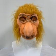 Funny Latex Full Head Animal Proboscis Monkey Fancy Dress Up Carnival Props Party Mask