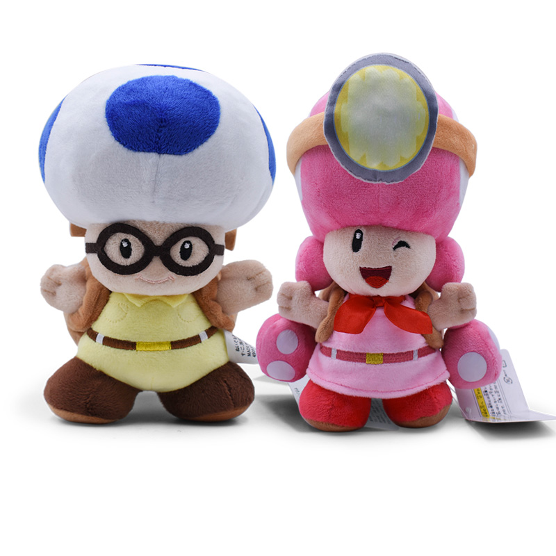 20CM Super Mario Plush Toys Mushroom Captain Toad Toadette Stuffed Dolls Plush Treasure Tracker Backpack For Baby Gifts 1