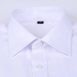 Image 2 - Men French Cufflinks Shirt 2020 New Mens Stripes Shirt Long Sleeve Casual Male Brand Shirts Slim Fit French Cuff Dress Shirts