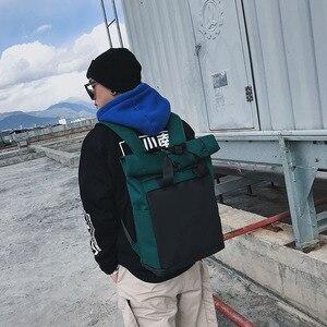 Image 3 - ファッションカジュアルバックパックユニセックストレンド女性bagpackシンプルな毎日バッグ多機能学生大容量バッグ軽量グリーン