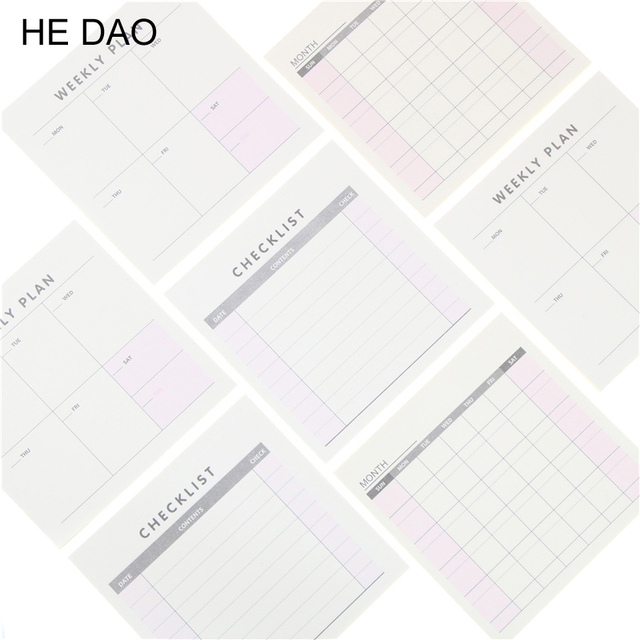1 Pcs Cute Kawaii Weekly Monthly Work Planner Book Diary Agenda For ...