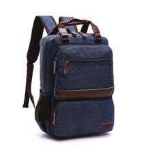 цены High Quality Vintage Multifunction Canvas Backpacks For Men Laptop Daypacks Canvas Rucksacks Large Travel Backpack Back Packs