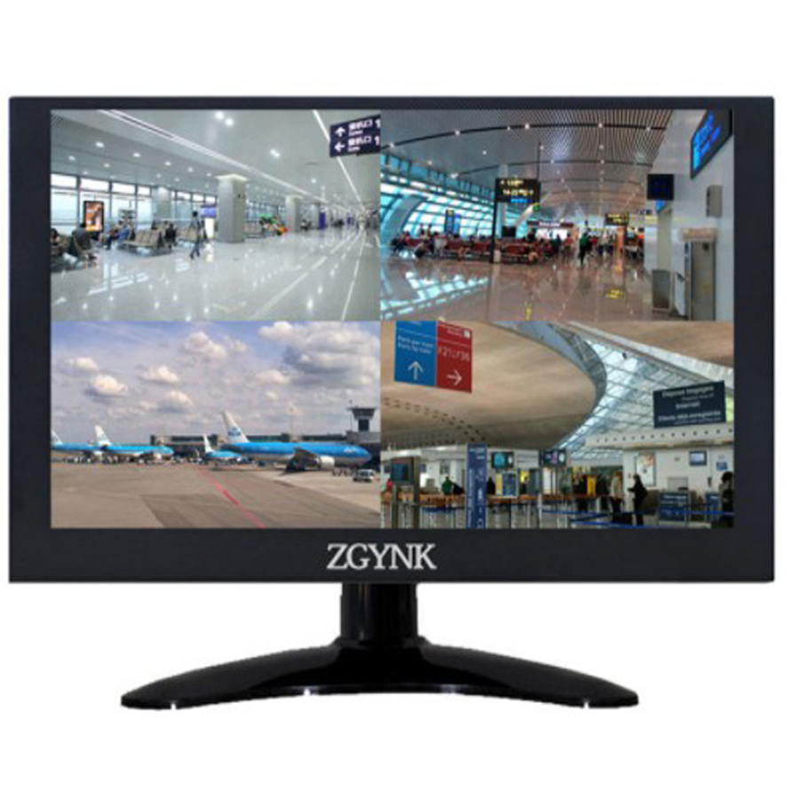 11.6 inch VGA BNC1 BNC2 BNC3 BNC4 LCD computer monitor four screen four camera industrial monitor metal frame