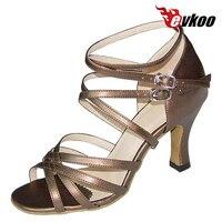 Evkoo Танцы атлас или из искусственной кожи Костюмы для латиноамериканских танцев Salsa Обувь для танцев 7 см каблук jh7r с длинным ремнем удобные ...
