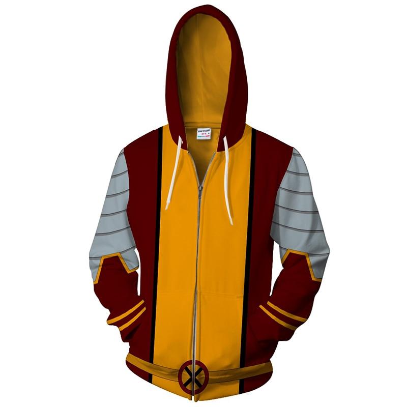 New zipper hoodie men hoodie and sweatshirts Splice Sportswear Giant-Size X-Men 3D printed Casual Fashion Hoodie hip hop tops