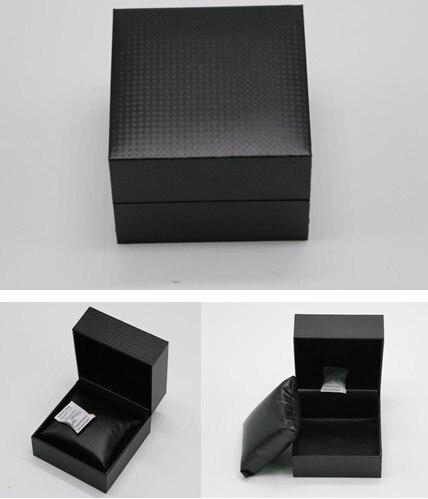 Material de Couro do Plutônio Caixa de Armazenamento Caixas de Presente Caixa de Relógio Atacado Relógio Preta Pulseira Quadrado Luxo Relógios Cases A006 Cor