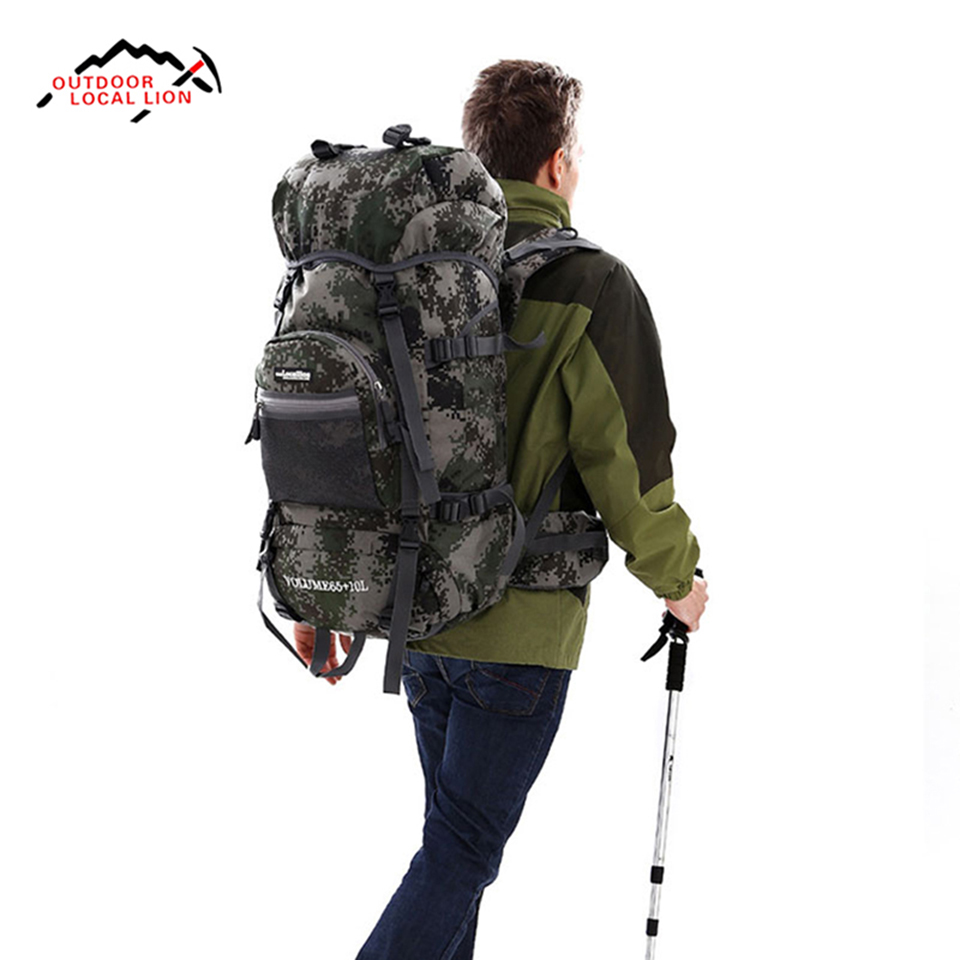 74b946ad1496 75L Large Capacity Waterproof Outdoor Hiking Backpack Camping Travel Climbing  Bag Pack Sport Backpack Military Tactical Backpack-in Climbing Bags from ...