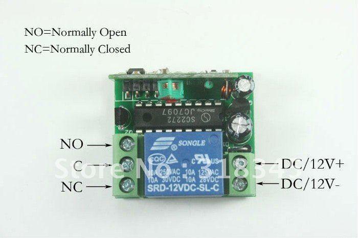 Garege дверь открытая Беспроводная система дистанционного управления 12 в беспроводной пульт дистанционного управления Переключатель 1 передатчик и 2 приемника нажмите на кнопку выключения