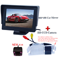 4.3 polegada TFT LCD Monitor Do Carro Retrovisor Do Carro de Estacionamento Reverso Monitor da câmera para Kia K2 RIO hatchback hatchback/Para kia ceed 2013