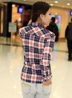 женская большой размер осень блузка женщины классический черный красные клетчатые рубашки фланелевые 2015 новинка женщины femininas одежда blusa де franela