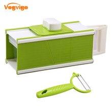 VOGVIGO Kitchen Set 5 in1 Multi Mandoline Vegetable Slicer & Grater Potato Carrot Dicer Salad Maker with Peeler