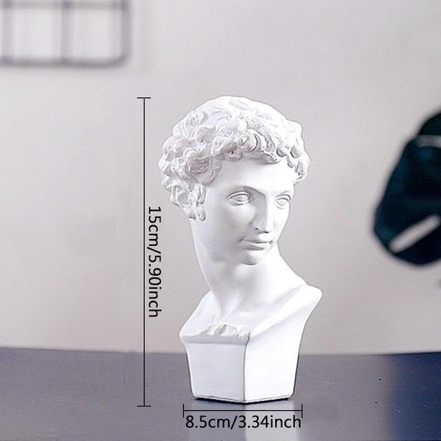 David Head Portraits Bust Mini Gypsum Statue Michelangelo Buonarroti Home Decoration for Resin Art&Craft Sketch Practice 3