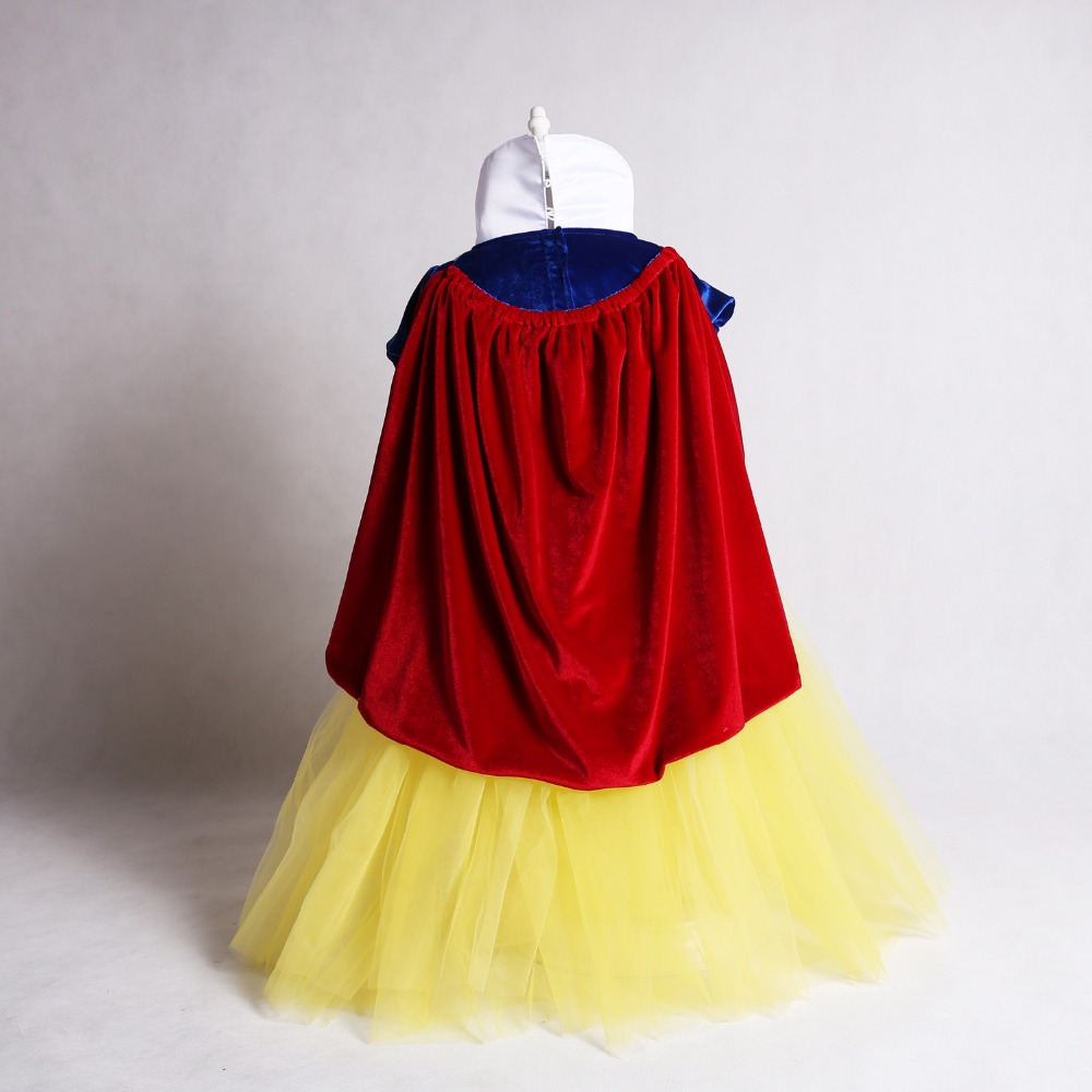 Free shipping 2018 girls 39 dress new children 39 s wear children 39 s baby snow white cosplay costume dress with cloak and oversleeve in Girls Costumes from Novelty amp Special Use