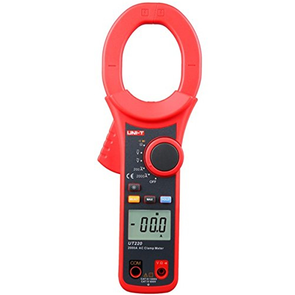 цена на 2017 High Quality Original UNI-T UT220 2000A Digital Clamp Meters Measure Multimeters Auto Range Resistance Free Shipping