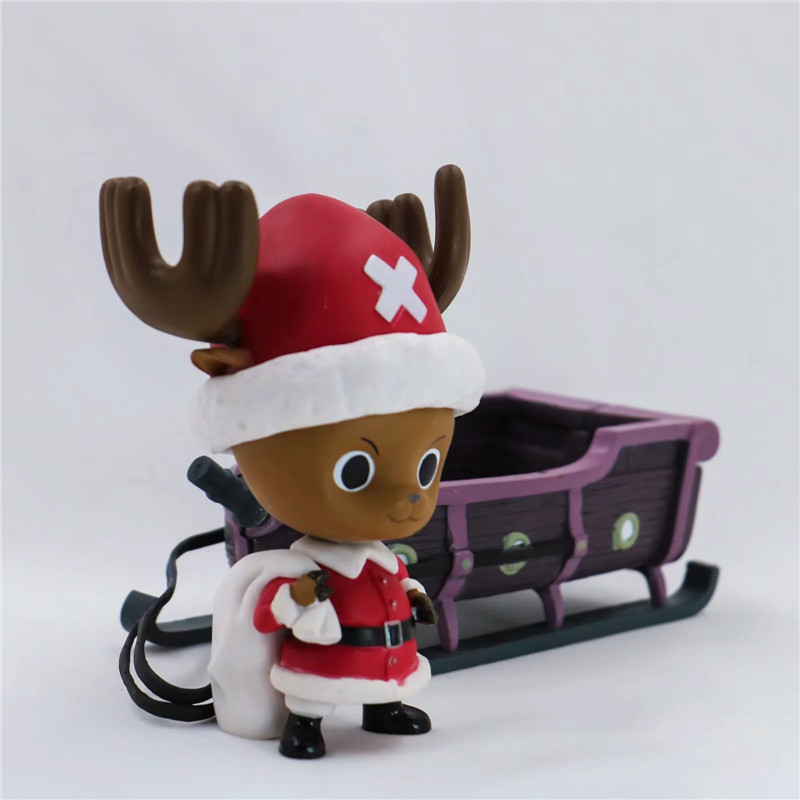 New Christmas One Piece Chopper Action Figure Toys Kawaii Anime Xmas Sled Chopper Figuras Dolls Brinquedos Gift 10cm  (4)