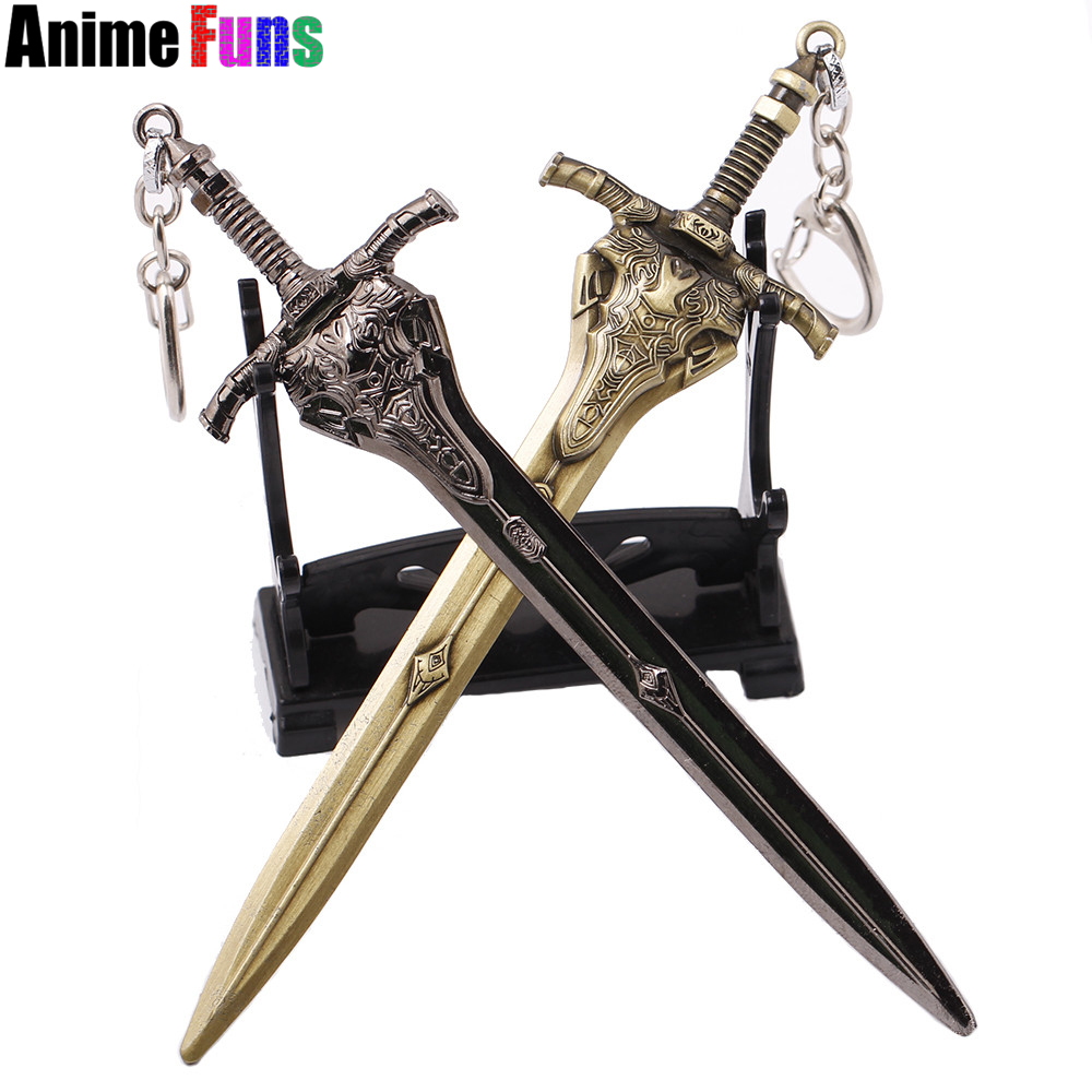 15cm Dark Souls 3 Artorias Sword Weapon Keyring Collection keychain KeyRing Metal Model Charm Gift hot sale drop-shipping image