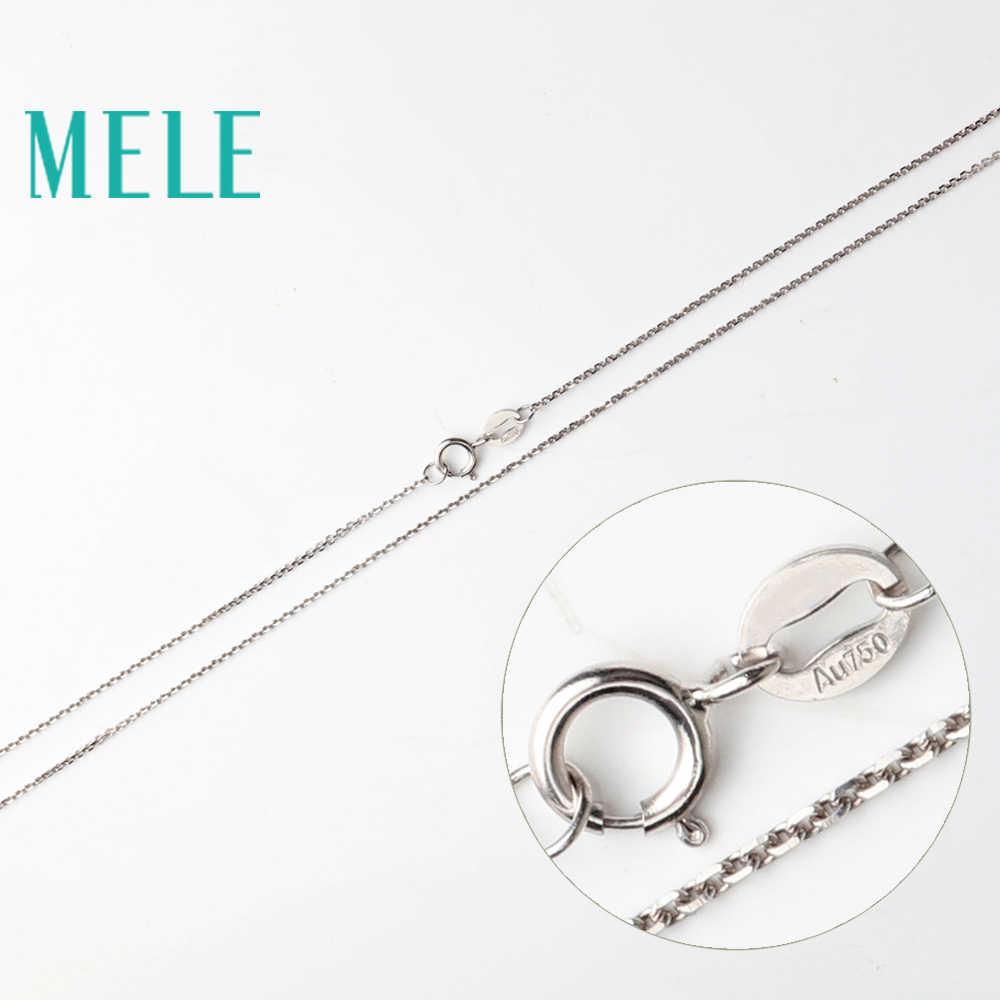MELE 18 k złoty łańcuch dla wisiorek i naszyjnik, krzyż łańcuch z żółtego złota, białe złoto, różowe złoto DIY biżuteria akcesoria