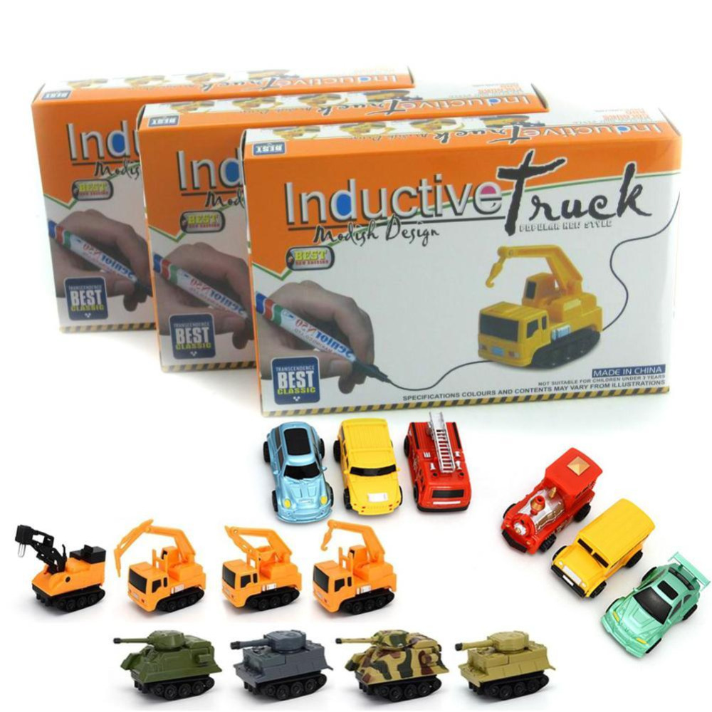 Inductive-Car-Diecast-Vehicle-Magic-Pen-Toy-Tank-Truck-Excavator-Construt-Follow-Any-Line-You-Draw-Toy-for-Kid-Baby-Style-Random-1