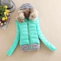 New Arrivals 2019 Winter Jacket Women Fashion Slim Big Fur Collar Warmth Casual Down Coat H229