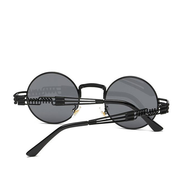 Cute Protective Round Shaped Antireflective Steampunk Sunglasses