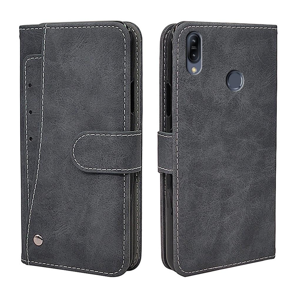 Flip Vintage Leather Case For ASUS ZenFone Max Pro M1 ZB602KL ZB601KL Case Luxury Wallet Cover TPU Fundas Phone Bag