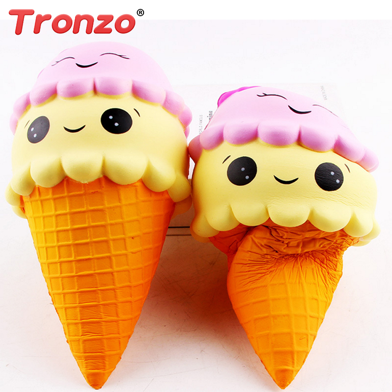 Tronzo Jumbo Squishy Toys Smiley Ice Cream Soft Elastic Stress Relief Squishy Slow Rising Novelty Squeezable Toy Gift For Kid ...