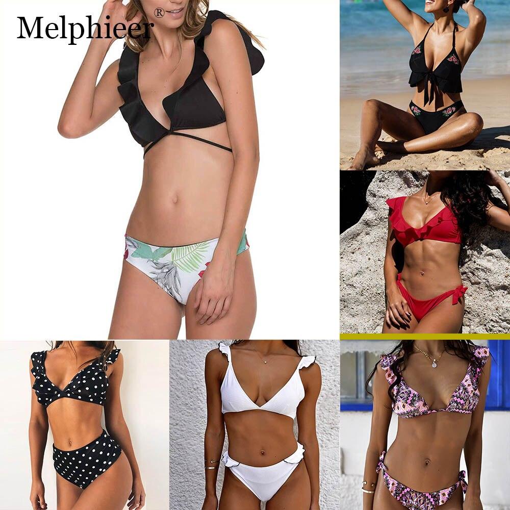 Sexy Bikini 2019 Women Off Shoulder Bikini Set Push Up Black Bandage Swimwear Swim Suit Maillot Bain Femme Biquinis Feminino Bikinis Set