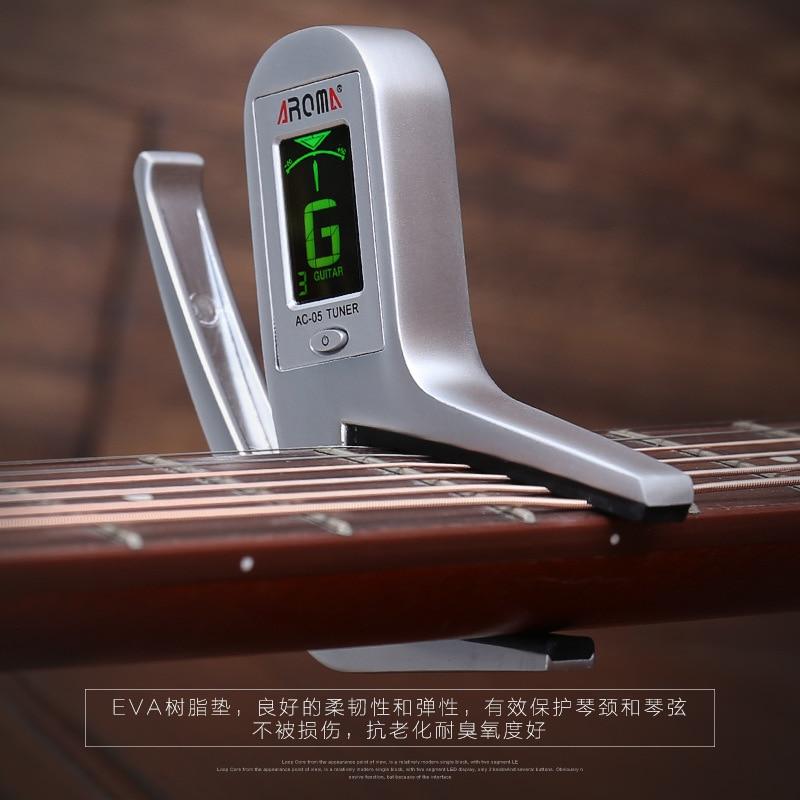 AROMA AC-05 guitare capo tuner combo guitare acoustique guitare électrique accordeur basse livraison gratuite