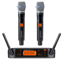 STARAUDIO Dual Channel UHF Wireless Microphone Set 2 Channel Handheld Microphone Party Stage Karaoke Clubs Church Mic SMU 0220A