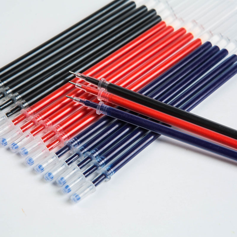 0 5mm 10pcs set Gel Pen Refills And 2 Pcs Gel Pen For Handless Red Blue Black Gel Ink Refill Office School Supplies 1 order in Gel Pens from Office School Supplies