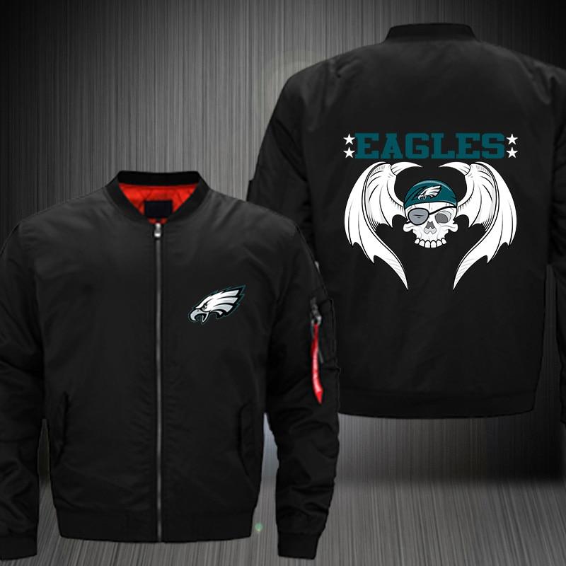 Dropshipping Philadelphia Eagles Jacket USA Size Men S MA 1 Jacket ... dd6a91438