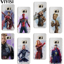 VIYISI Marvel Phone case For Samsung Galaxy S8 S9 Plus Case Cover J7 J5 J3 A5 A3 2015 2016 2017 S6 S7 Edge Avengers Coque Shell