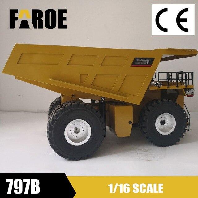 fc37f54fd9 Upgraded 1 16 RC Hydraulic heavy duty Mine Haul truck model-in RC ...