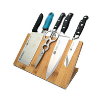 Bamboo knife holder magnetic Creative magnet suction tool storage kitchen supplies Household magnetic tool holder