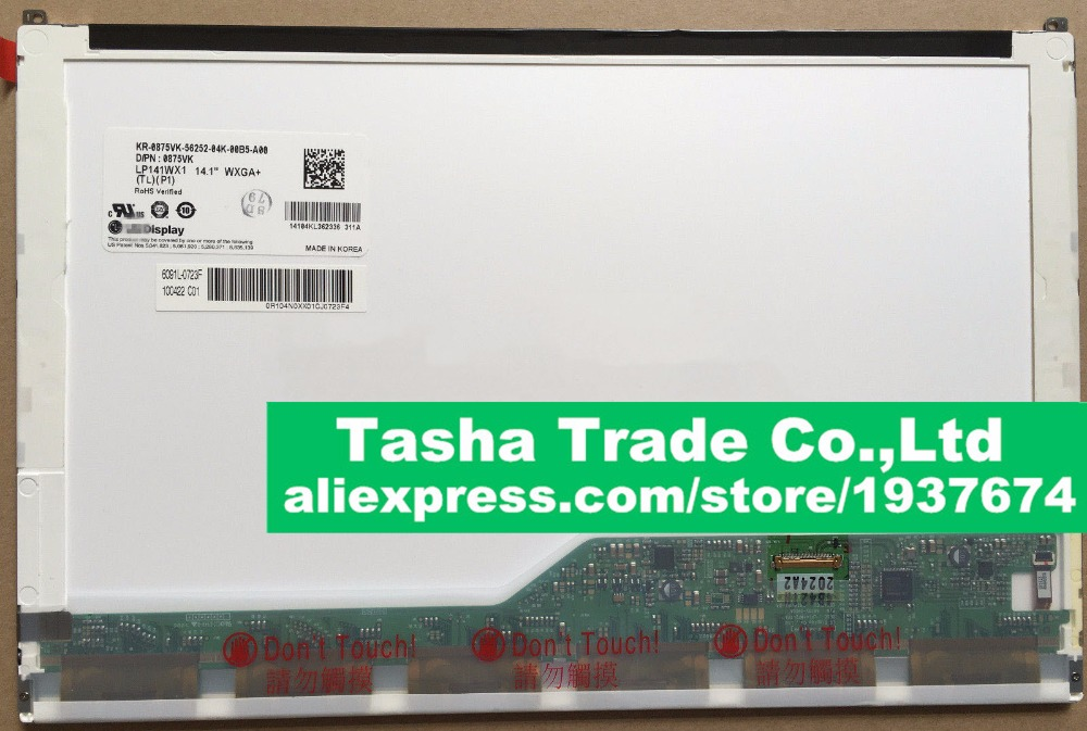 LP141WX1-TLP1 LP141WX1 TLP1 Screen Panel LCD Screen 14.1 inch 1280*800 CCFL Backlight