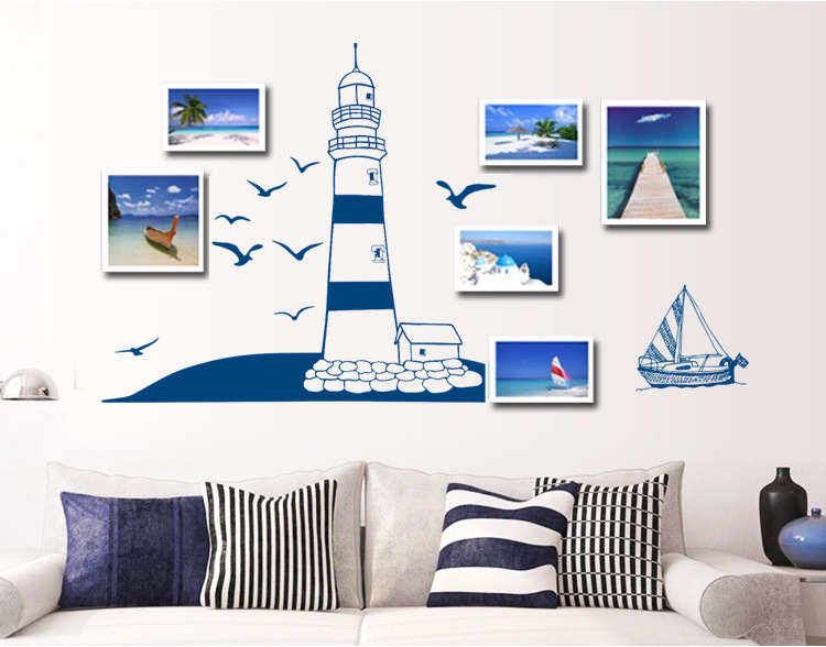 Image gallery decals lighthouse for Stickers para dormitorios