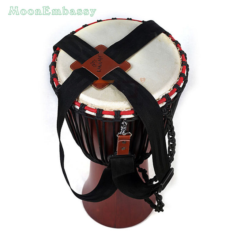Պրոֆեսիոնալ Djembe Strap African Hand Drum Strap Հարթակի պարագաներ Անվճար առաքում