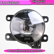 цена на Car Styling LED Fog Lamp Assembly for Subaru BRZ XV Impreza Forester Outback LED Fog Light Auto Angel Eye Fog Lamp LED DRL