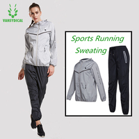 3fccfd623fe1 Hot Sweat Sports Suits 2pc Women S Gym Running Jacket Pants Set Lose Weight  Slimming Jogging. Quente Suor Ternos Esportivos/2 pc Gym Correndo ...